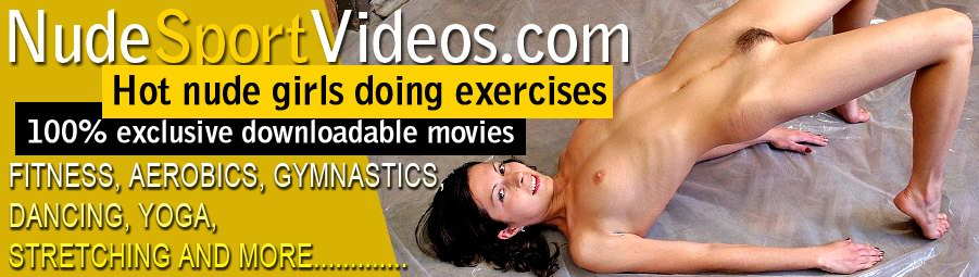 Nackte Gymnastik, Aerobic, Yoga, Fitness, nacktes Tanzen, nackten Sport